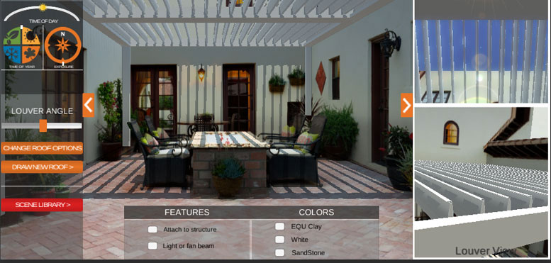 Louvered Roof Visualizer